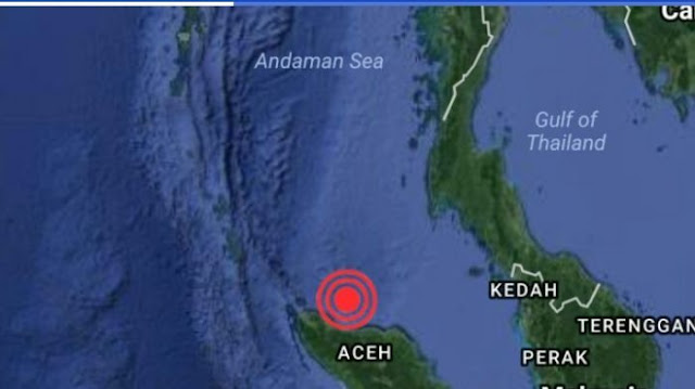 Gempa Berkekuatan 6,4 SR Mengguncang Aceh Subuh Tadi.