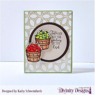 Divinity Designs Stamp Set: Fruit of the Spirit Custom Dies: Pierced Circles Mixed Media Stencils: Petals