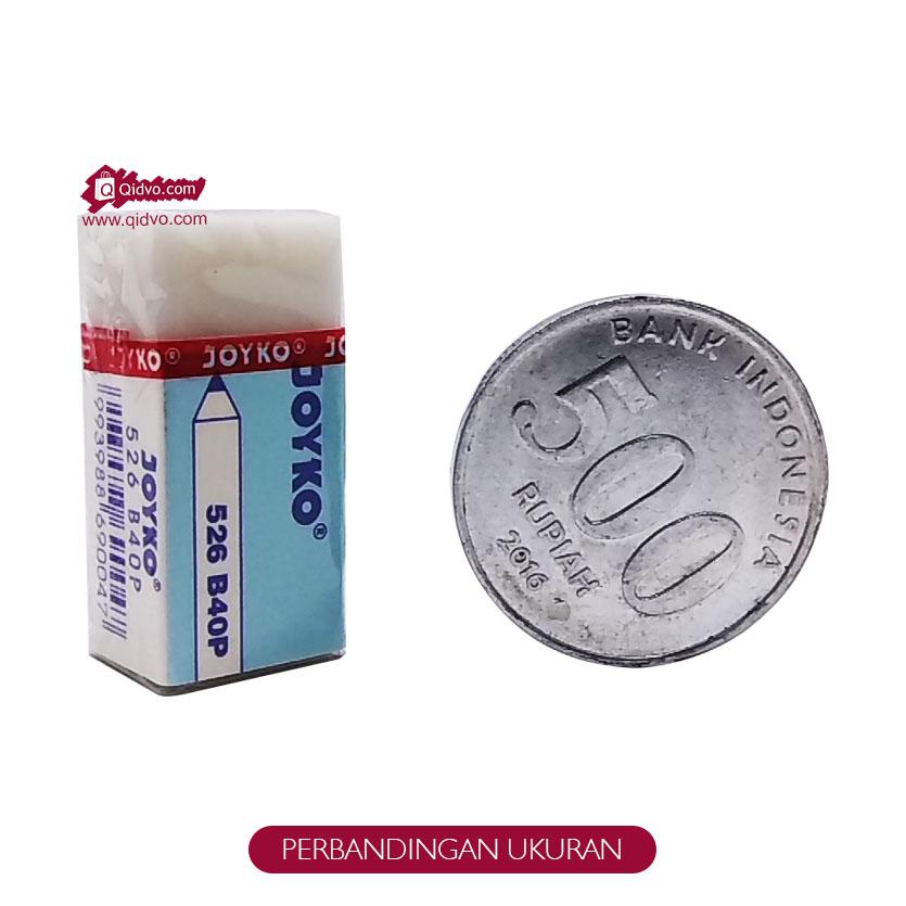 Penghapus Pensil JOYKO Tipe B40P Putih Kecil