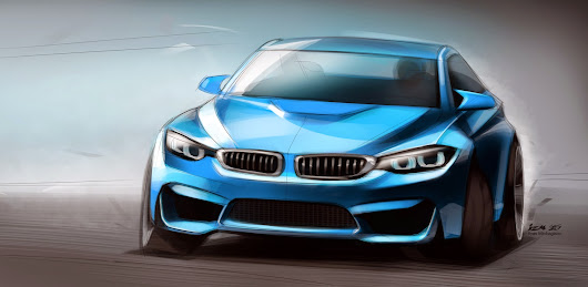 BMW M3 digital painting