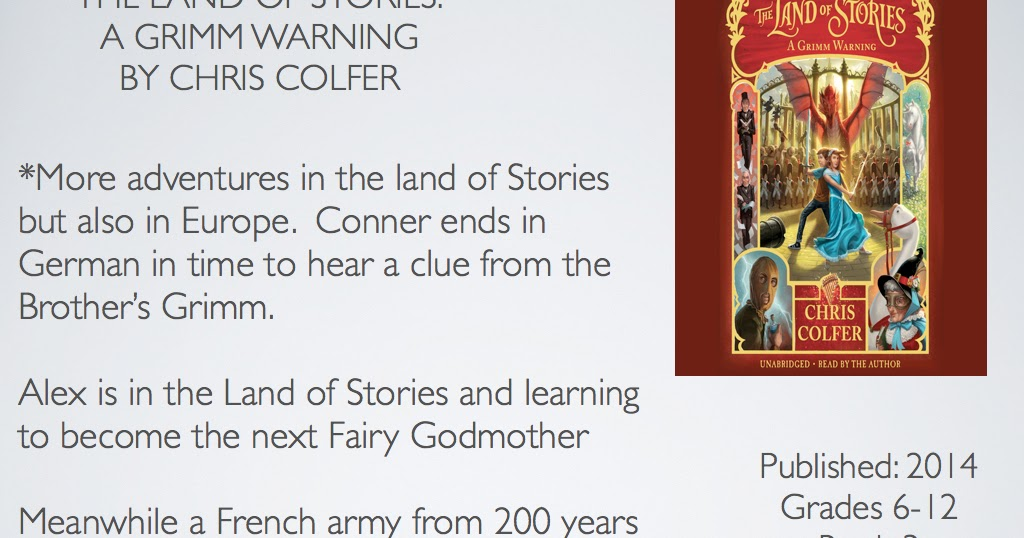 Young Adult Reading Machine The Land Of Stories A Grimm Warning By
