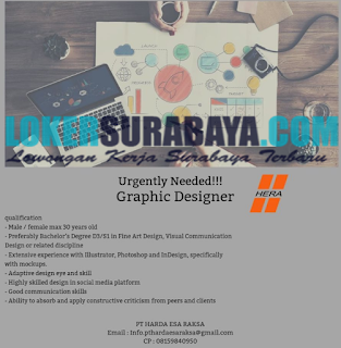Urgently Needed at PT. Harda Esa Raksa Surabaya May 2019