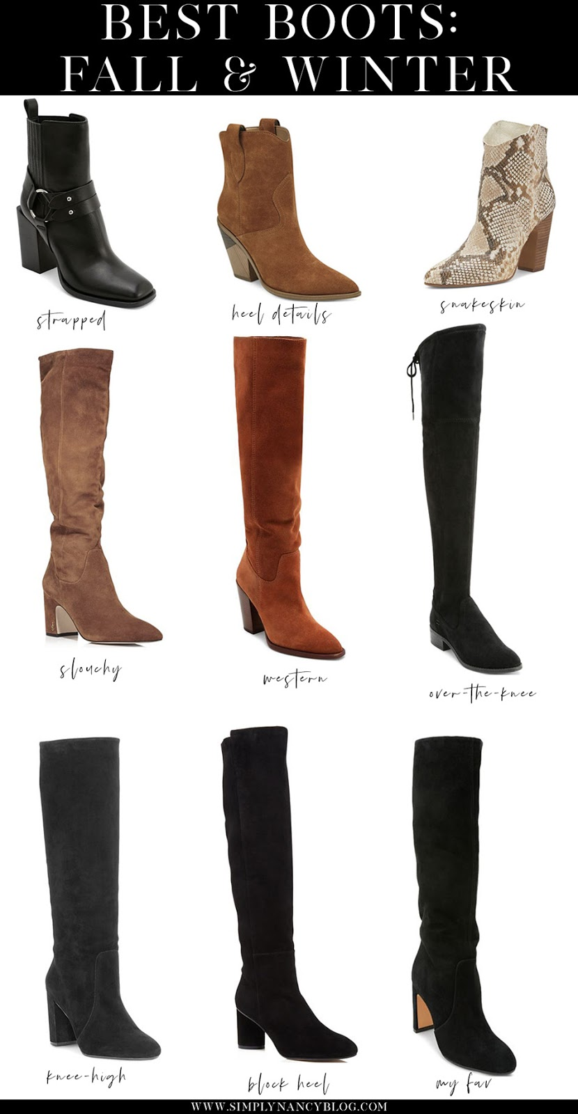black friday/cyber monday best boots under $200 | dolce vita, stuart weitzman, vince camuto, sam edelmam, marc fisher