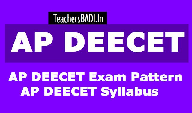 ap deecet 2019 exam pattern,scheme of entrance test,syllabus,part a,part b weight age of marks eligibility criteria,ap deecet 2019 question paper pattern,marks distribution