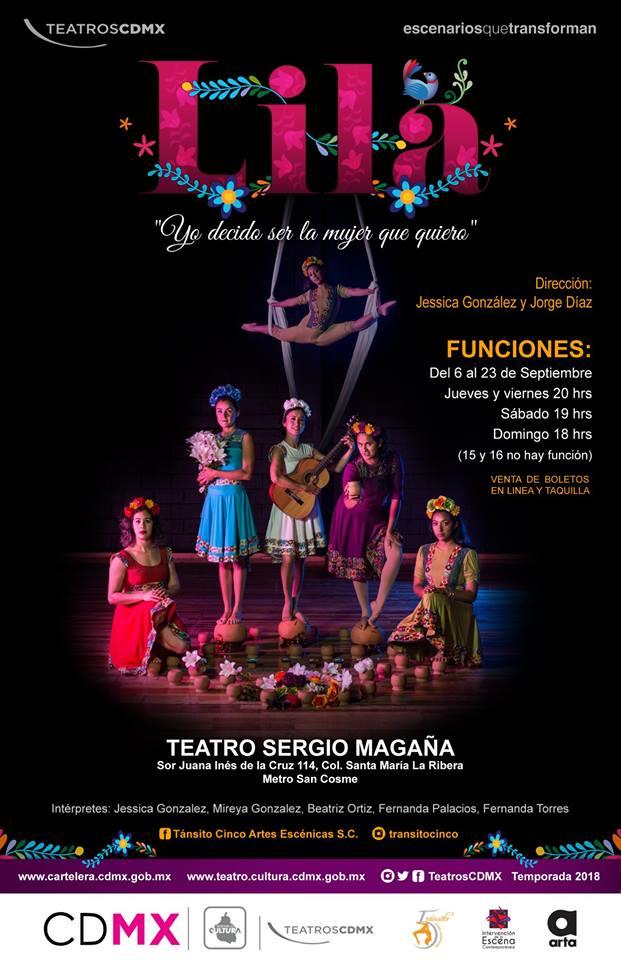 Lila,espectáculo multidisciplinario al Teatro Sergio Magaña