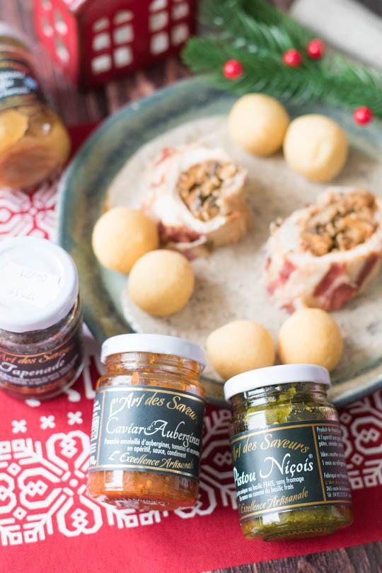 recette plat noel Ballottines de dinde farcies aux marrons et champignons