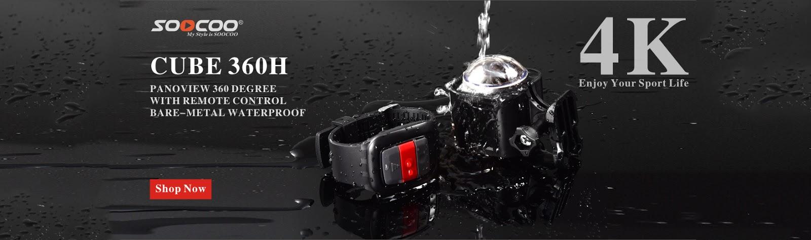 SOOCOO Action Camera Blog: 360 degree panoramic camera 4k with