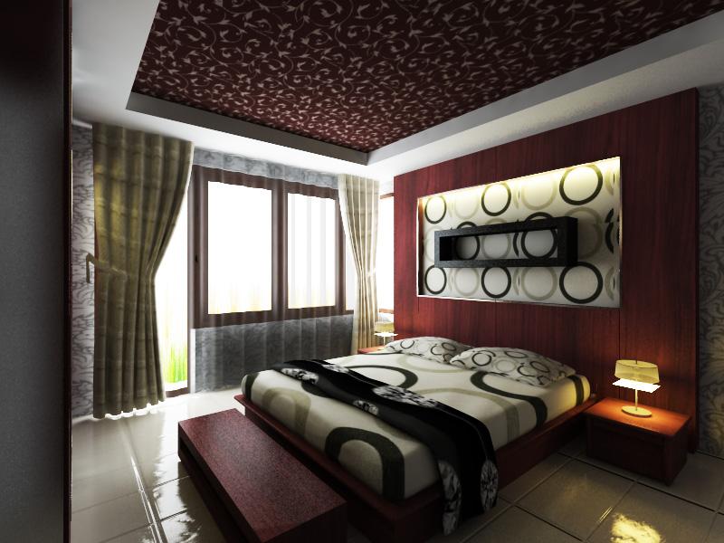 Gambar desain interior kamar tidur utama Minimalis dan ...