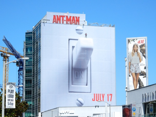 Giant Ant-Man light switch movie billboard