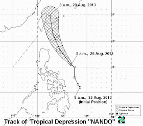 Typhoon Nando PAGASA weather forecast August 26, 2013