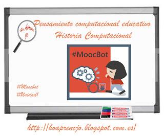 #estoyenlasredes, #hoaprencjoenxarxa, , #MoocBot, Ho aprenc Jo, hoaprencjo, pensamiento computacional, historia, Pensamiento computacional educativo
