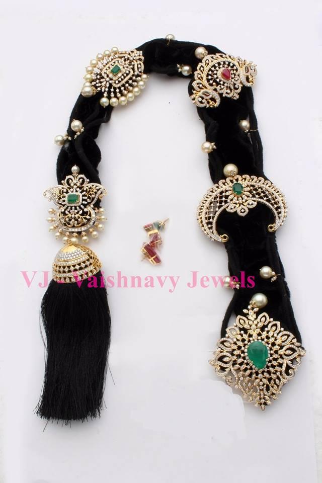 Diamond Jada Billalu by Vaishnavi jewels