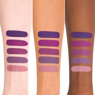 Kat Von D Liquid Lipstick Requiem Swatch on light, medium, and dark skin