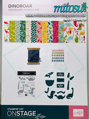 Dinoroar Suite NEW Stampin' Up! Products #onstage2019 Display Board from Mitosu Crafts UK