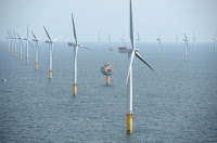 Sheringham Shoal Offshore Wind Farm in the UK. (Credit: StatKraft/flickr) Click to Enlarge.