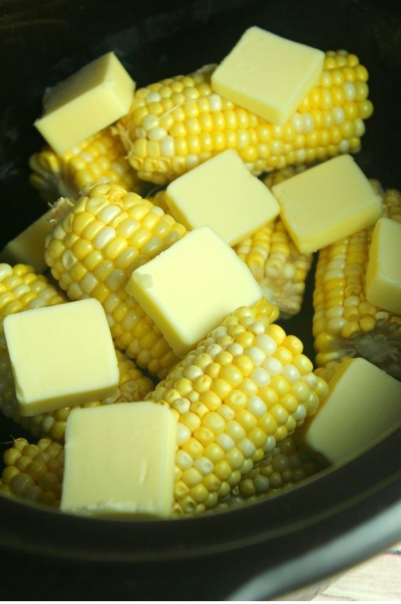 Slow Cooker Sweet Buttery Corn On The Cob