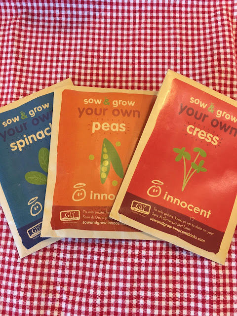 innocent's #sowandgrow seeds for children to plant