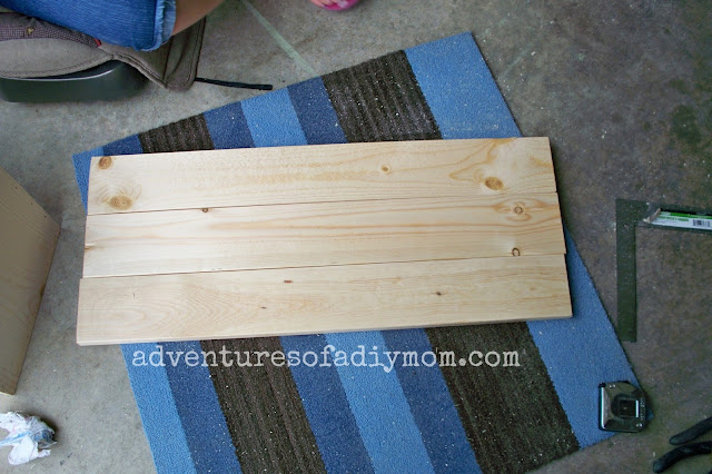building the top of a diy toy box
