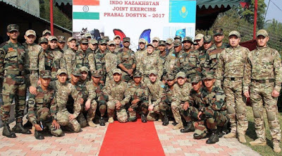 "Indo-Kazakhstan Joint Exercise ""PRABAL DOSTYK 2017"" Begins"
