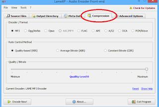 LameXp Audio Encoder-Compression Format Seçimi