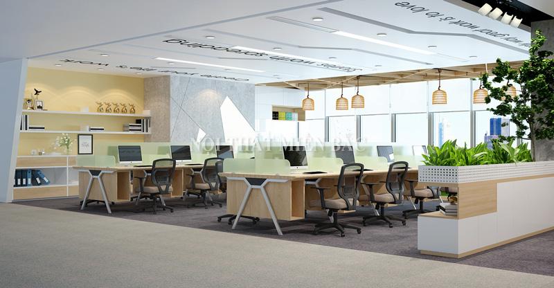 Thiết kế nội thất phòng làm việc hiện đại - phòng dự án- H1