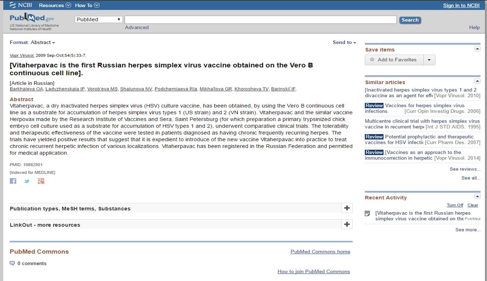 House of Herpesians: Vitaherpavac- Russian Vaccine?