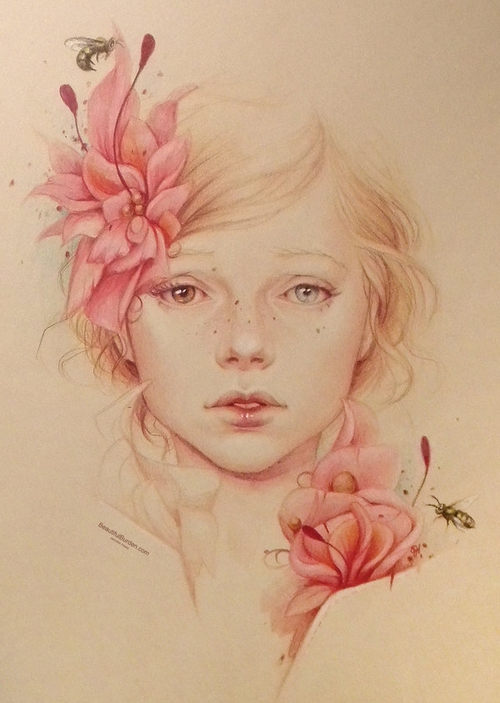 11-Spring-Jennifer-Healy-Traditional-Art-Color-Pencil-Drawings-www-designstack-co