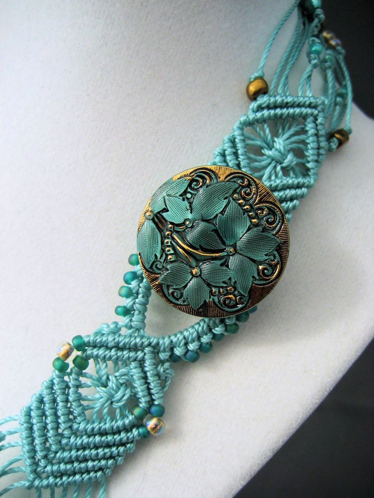 Knot Just Macrame By Sherri Stokey Beaded Macrame Necklaces