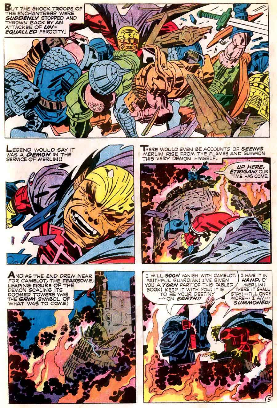 Demon v1 #1 dc bronze age comic book page art by Jack Kirby