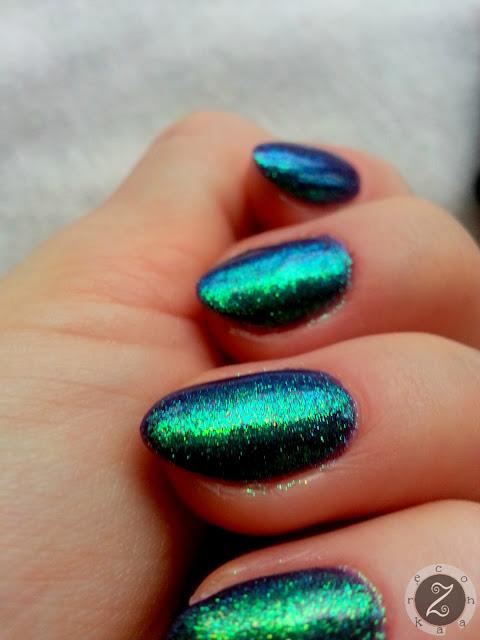 manicure hybrydowy semilac i efekt indigo