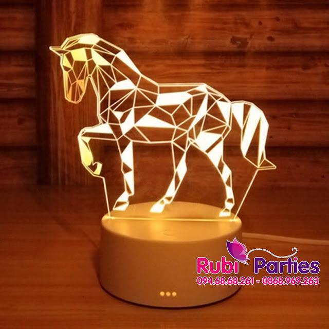 Den LED 3D Hinh con ngua (727)