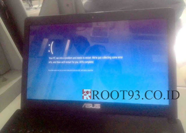 Laptop Windows 10 Restart Terus dan Blue Screen Berulang kali