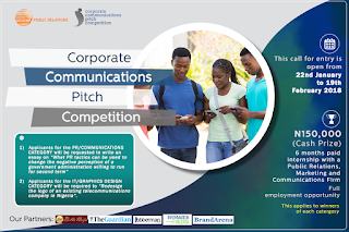 Sesema PR?s Corporate Communications Pitch Competition call for entry extends to 19th February, 2017