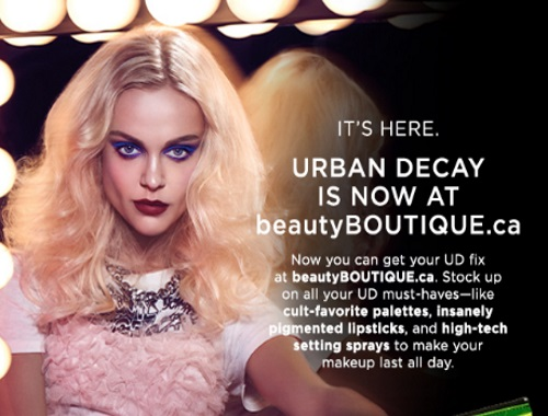Urban Decay at Shoppers Drug Mart BeautyBoutique + Free Gift!