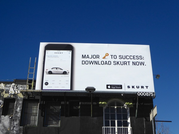 Skurt car rental billboard
