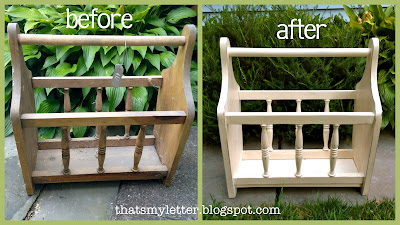magazine rack before and after