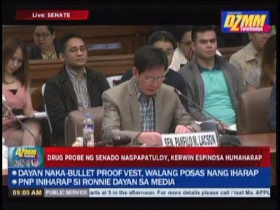 Kerwin Espinosa Senate Hearing, drug hearing, Bato De la Rosa