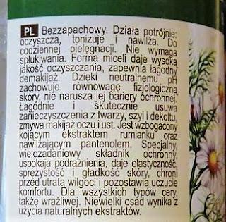 Green pharmacy płyn micelarny 3 w 1 rumianek