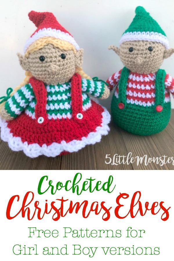 Christmas Elf – Pattern Free #crochetpattern #crochet ... | 900x600