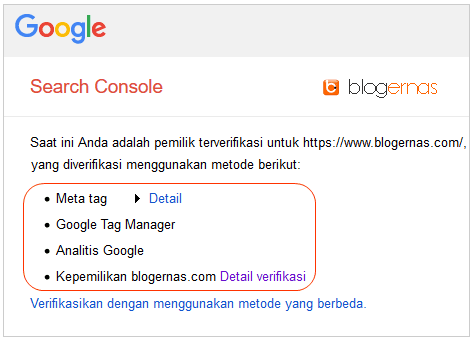 5 Jenis Metode Verifikasi Blog di Google Search Console