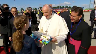 Pope Francis has arrived in Ireland