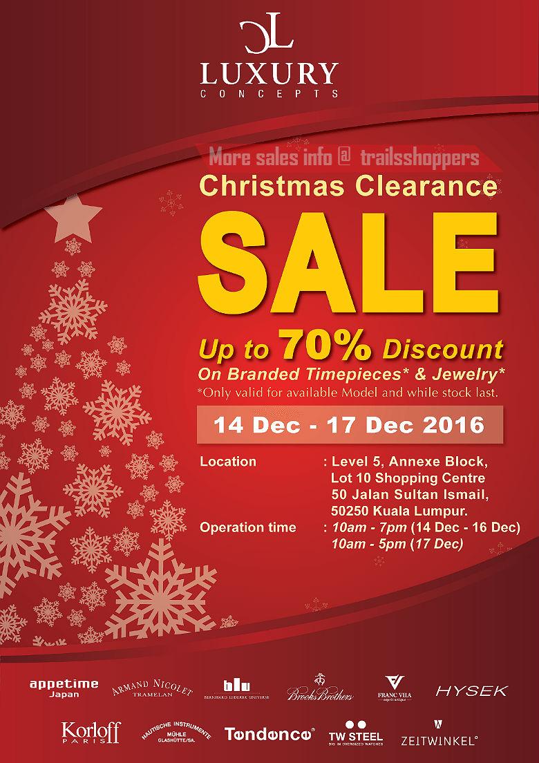 Luxury concepts christmas clearance sale until 17 dec 2016 for Christmas decs sale