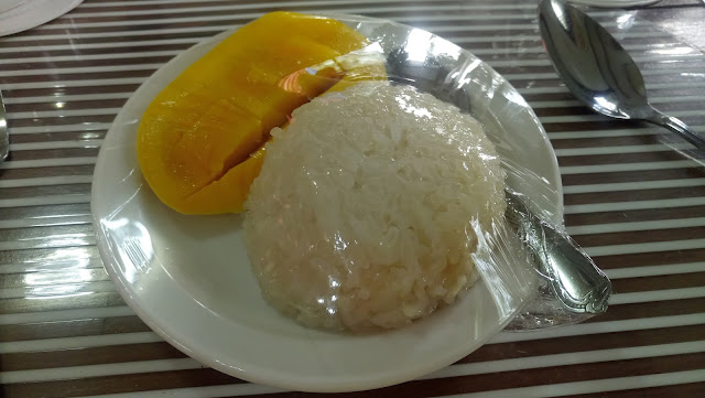 mango and rice cake at Hidden Valley Mountain Resort