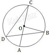 Lingkaran berpusat O serta sudut pusat dan sudut keliling, soal matematika SMP UN 2017 no. 22