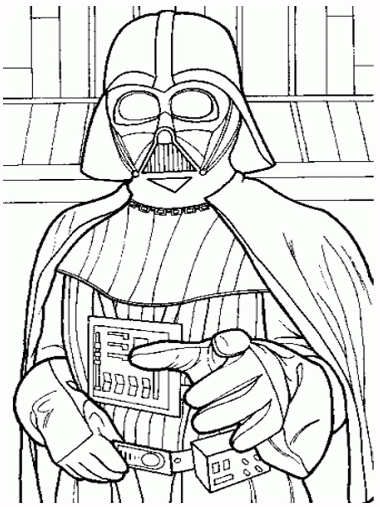 darth vader star wars coloring pages printable