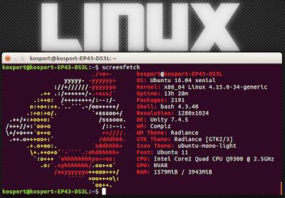 Простые команды в Линукс - отрисовка логотипа дистрибутива
