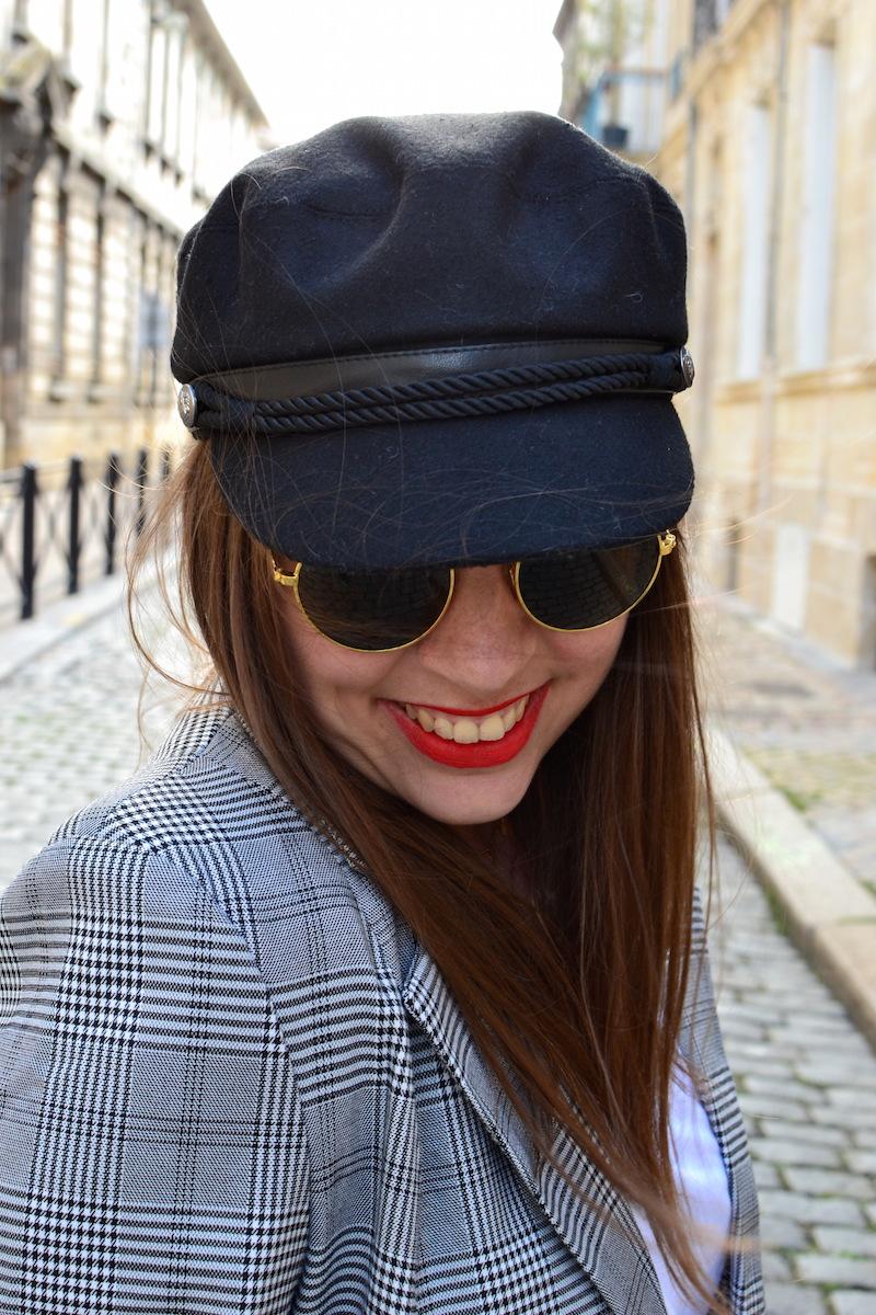 casquette de marin Pimkie et lunette de soleil H&M