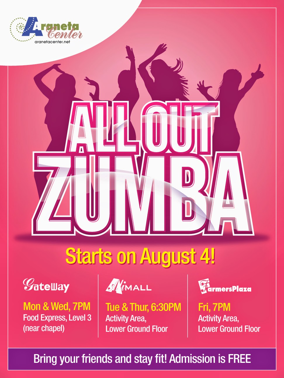 What's Happening at Araneta Center: FREE All Out Zumba