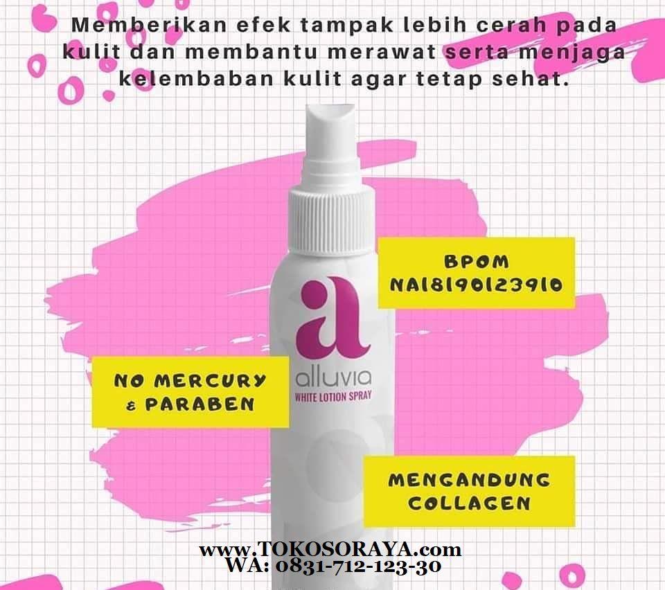 produk perawatan kulit white lotion spray alluvia