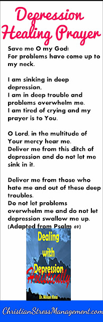 Depression treatment prayer from the Bible